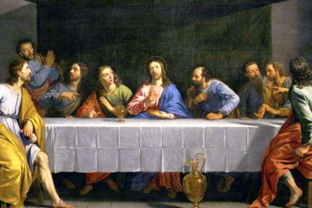 Petite cène jésus et les apôtres peints par Phillippe de Champaigne