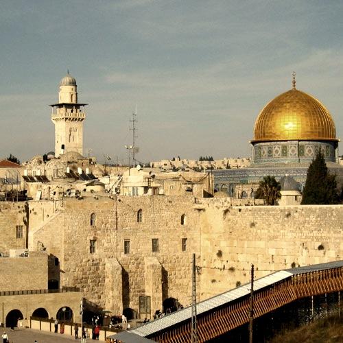 Le mur du temple de Salomon à Jérusalem (mur des lamentations